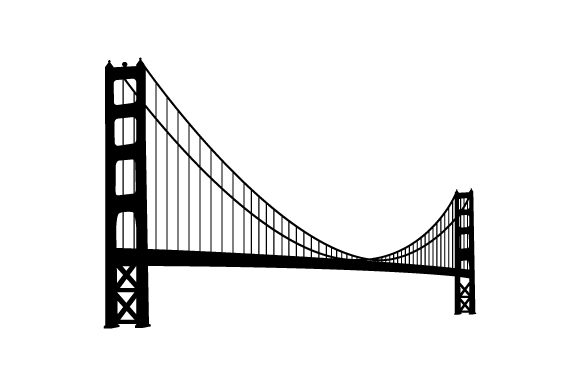Download Free Golden Gate Bridge Silhouette Svg Cut File By Creative Fabrica for Cricut Explore, Silhouette and other cutting machines.
