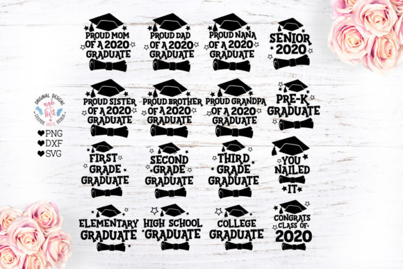 2020 Graduation Bundle Graphic Crafts By GraphicHouseDesign