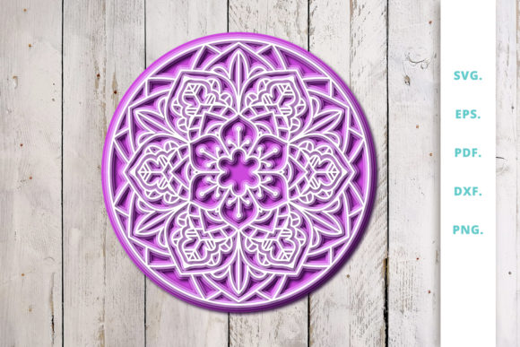 Print on Demand: 3D Layered Mandala Graphic 3D Shapes By Sintegra