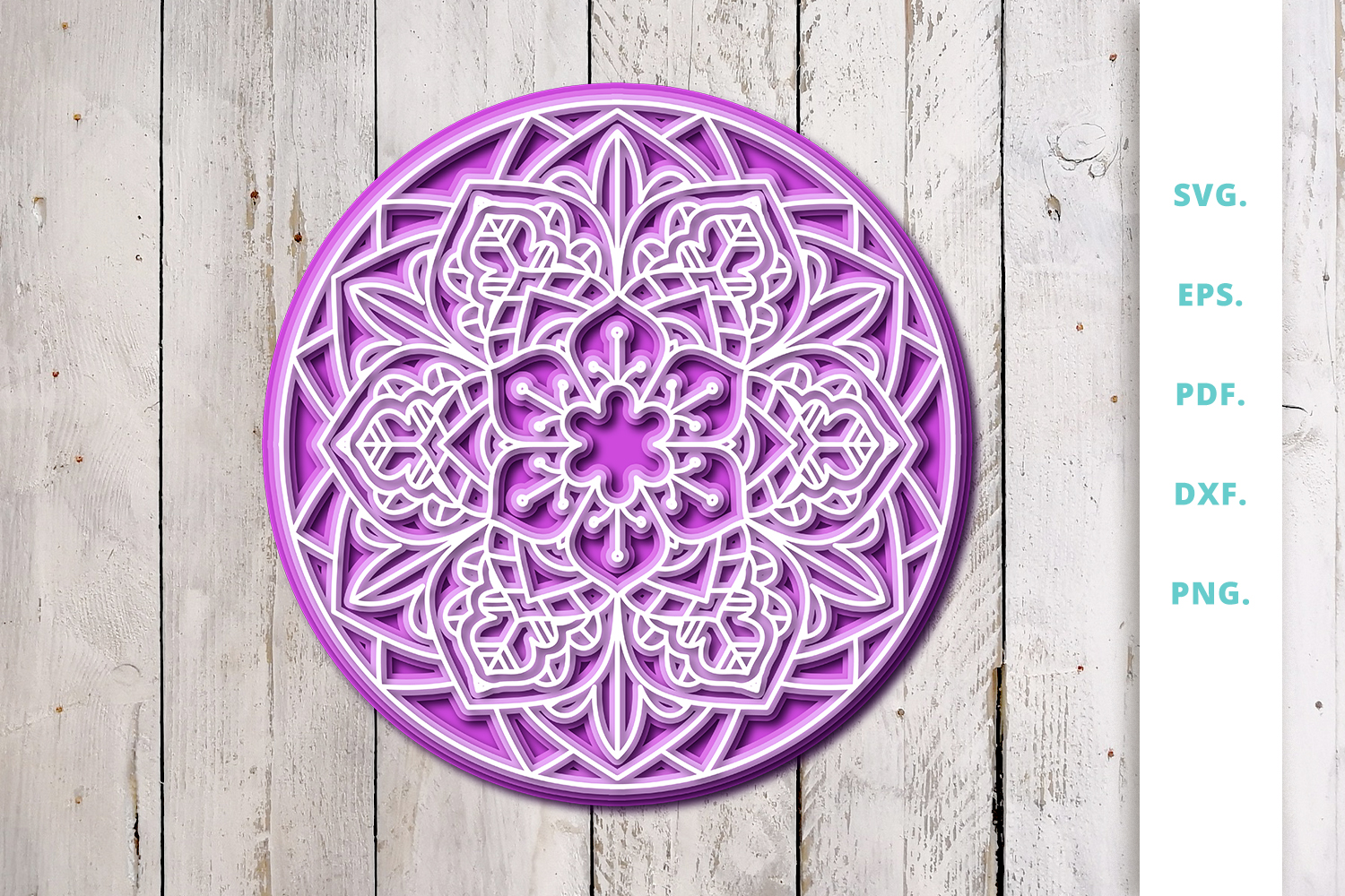 Download Free 3d Layered Mandala Graphic By Sintegra Creative Fabrica for Cricut Explore, Silhouette and other cutting machines.