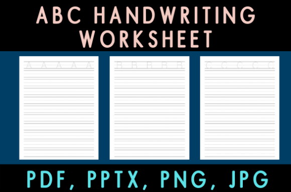 Download Free Abc Handwriting Practice Worksheet Graphic By Kdp Ease for Cricut Explore, Silhouette and other cutting machines.