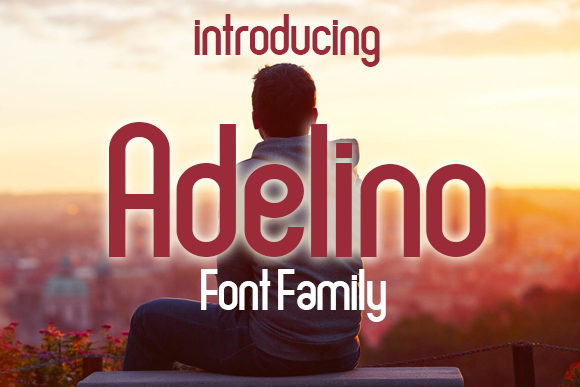 Print on Demand: Adelino Display Font By vladimirnikolic