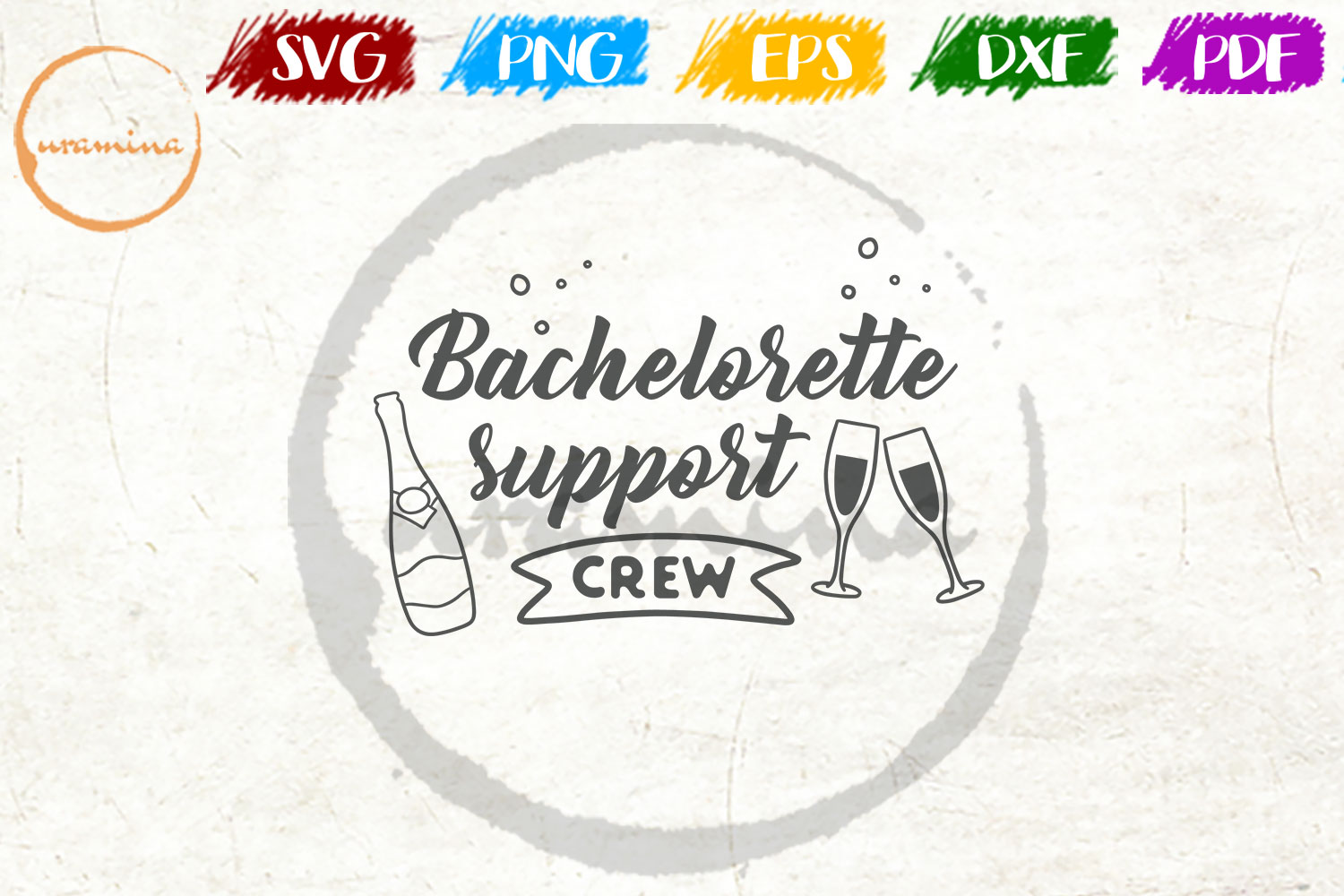 Download Free Bachelorette Support Crew Graphic By Uramina Creative Fabrica for Cricut Explore, Silhouette and other cutting machines.