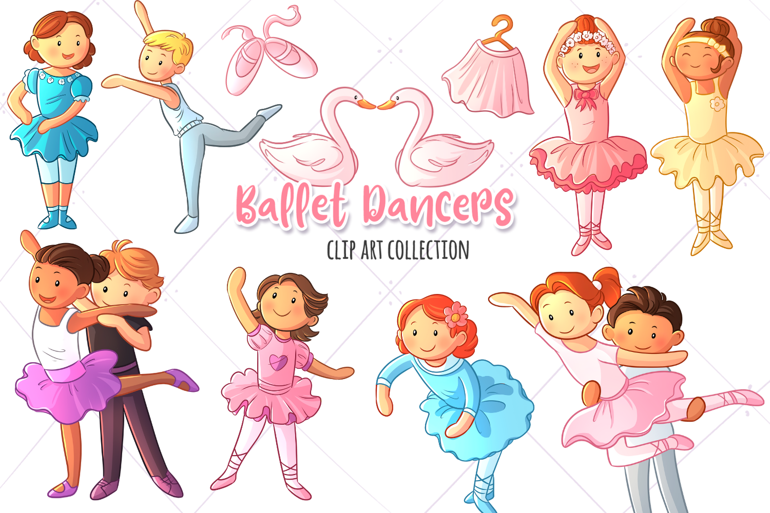 Download Free Ballet Dancers Clip Art Collection Graphic By for Cricut Explore, Silhouette and other cutting machines.