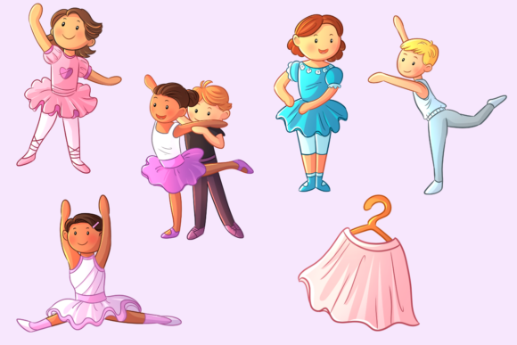 Download Free Ballet Dancers Clip Art Collection Grafico Por SVG Cut Files
