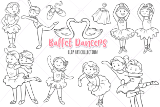Print on Demand: Ballet Dancers Digital Stamps Graphic Illustrations By Keepinitkawaiidesign