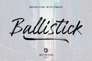 Print on Demand: Ballistick Script & Handwritten Font By ibeydesign