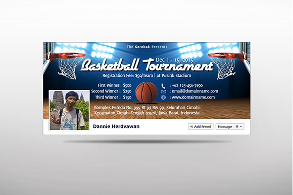 Download Free Basketball Tournament Cover Graphic By Ciusan Creative Fabrica for Cricut Explore, Silhouette and other cutting machines.