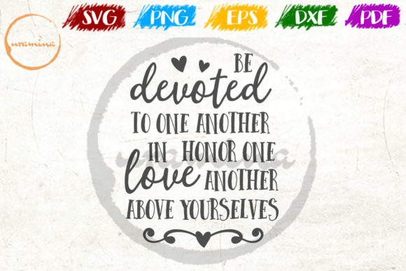 Download Free Be Devoted To One Another In Honor One Graphic By Uramina for Cricut Explore, Silhouette and other cutting machines.