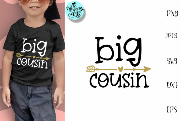Download Free Big Cousin Cousin Shirt Graphic By Midmagart Creative Fabrica for Cricut Explore, Silhouette and other cutting machines.