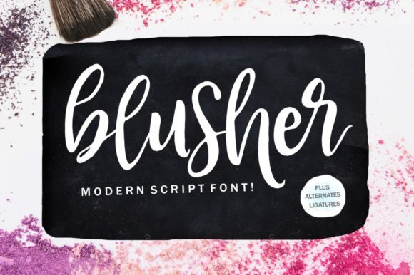 Print on Demand: Blusher Script & Handwritten Font By Youngtype