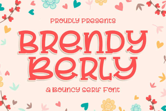 Print on Demand: Brendy Berly Display Font By Blankids Studio - Image 1