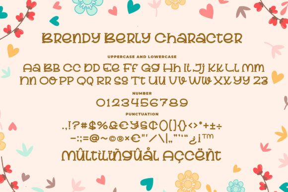 Print on Demand: Brendy Berly Display Font By Blankids Studio - Image 6