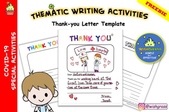 Covid 19 Thank You Letter Template Graphic By Wishgrass Edu
