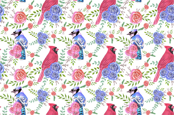 Download Free Cardinals And Bluejays Roses Grafico Por Shawlin Creative Fabrica for Cricut Explore, Silhouette and other cutting machines.