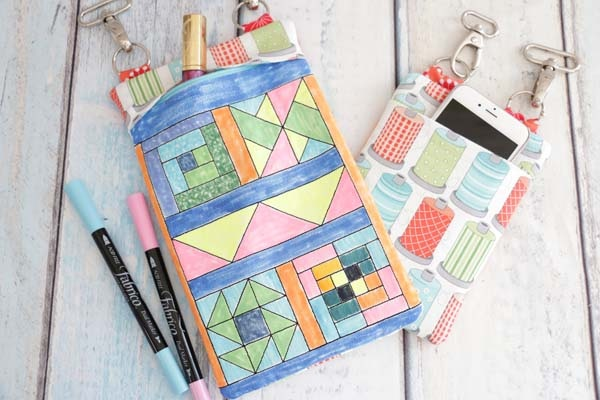 Coloring Book Zipper Bag In The Hoop Quilt Block Creative Fabrica
