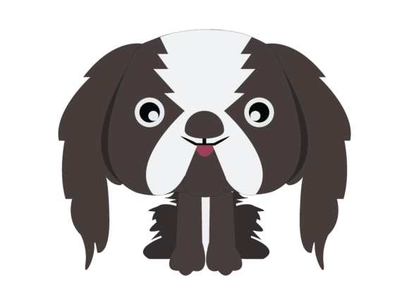 Download Free Dog Flat Design Icon Graphic By 1riaspengantin Creative Fabrica for Cricut Explore, Silhouette and other cutting machines.