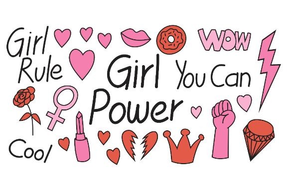 Download Free Doodle Girl Power For T Shirt Design Graphic By Firdausm601 for Cricut Explore, Silhouette and other cutting machines.