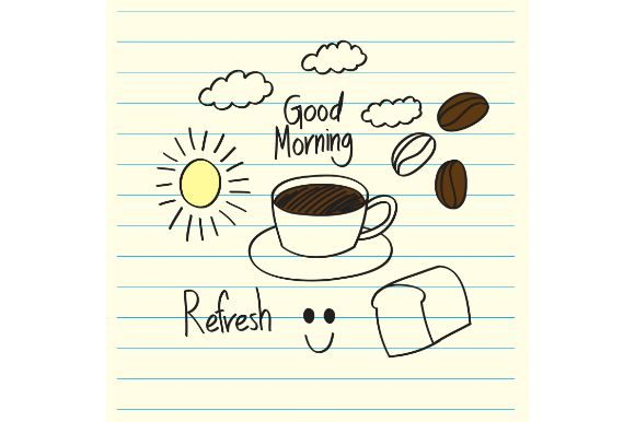 Download Free Doodle Good Morning Graphic By Firdausm601 Creative Fabrica for Cricut Explore, Silhouette and other cutting machines.