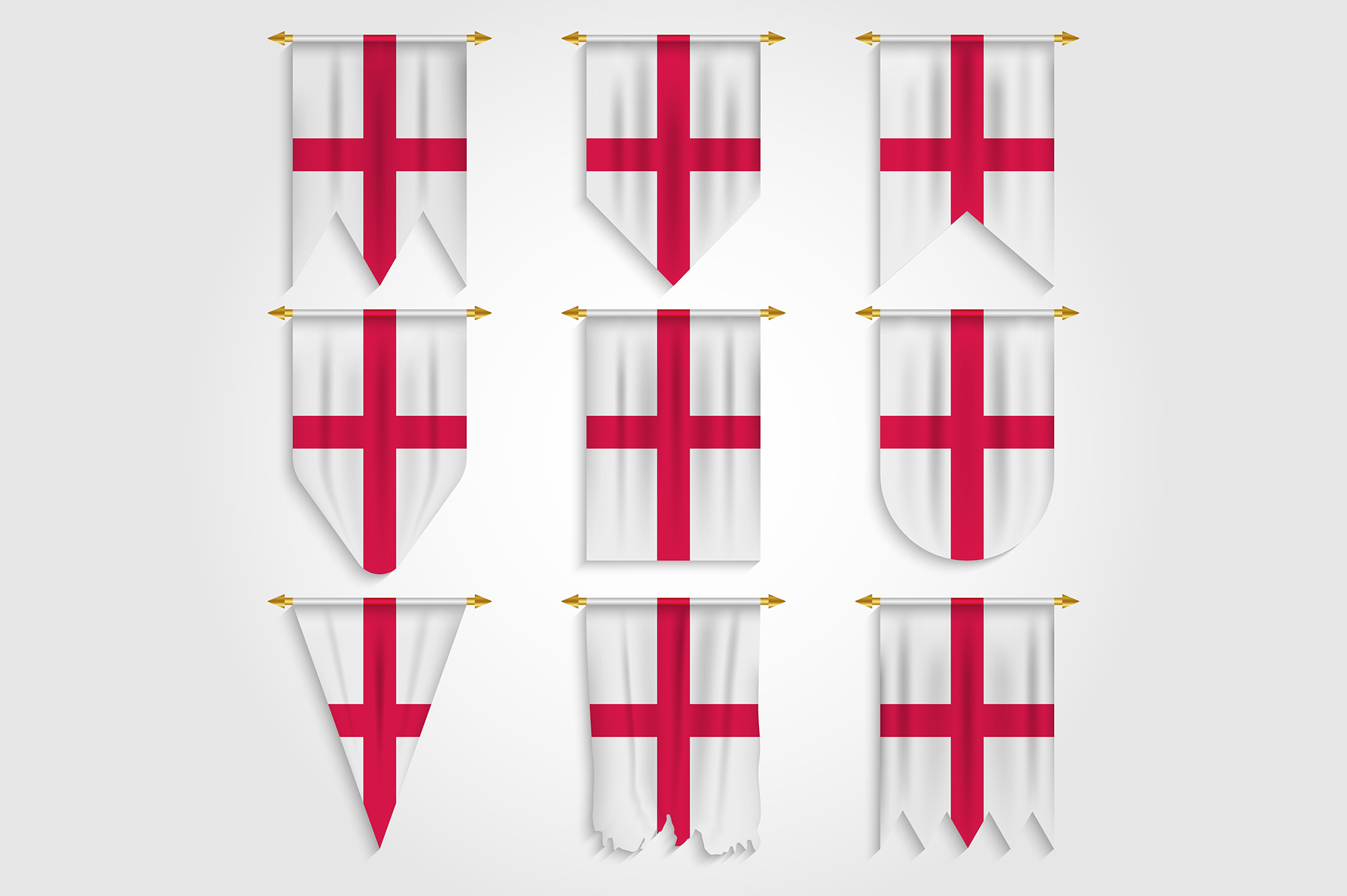 Download Free England Flag In Different Shapes Graphic By Medelwardi for Cricut Explore, Silhouette and other cutting machines.