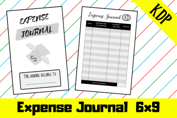 Print on Demand: Expense Journal | KDP Interior Graphic KDP Interiors By KDP Mastermind