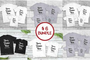 Family Tshirt Mockup Bundle, Mommy & Me