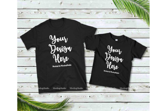 Print on Demand: Family Tshirt Mockup Bundle, Mommy & Me Graphic Product Mockups By Mockup Station - Image 6