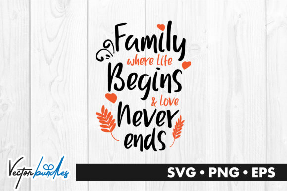 Download Free Family Where Life Begins Graphic By Vectorbundles Creative Fabrica for Cricut Explore, Silhouette and other cutting machines.