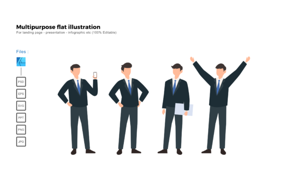 Download Free Flat Illustration Business Man Teams Graphic By Rivatxfz for Cricut Explore, Silhouette and other cutting machines.