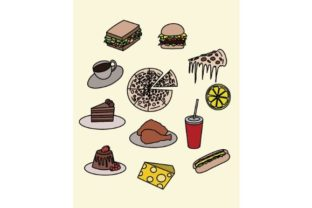 Download Free Foods Doodle Vector Art Graphic By Firdausm601 Creative Fabrica for Cricut Explore, Silhouette and other cutting machines.