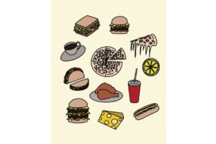 Download Free Foods Doodle Vector Art Graphic By Firdausm601 Creative Fabrica SVG Cut Files