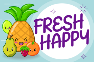 Print on Demand: Fresh Happy Display Font By brithostype