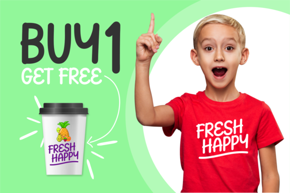Download Free Fresh Happy Font By Brithostype Creative Fabrica for Cricut Explore, Silhouette and other cutting machines.