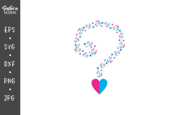 Download Free Gender Reveal Question Mark Grafico Por Sashica Designs for Cricut Explore, Silhouette and other cutting machines.