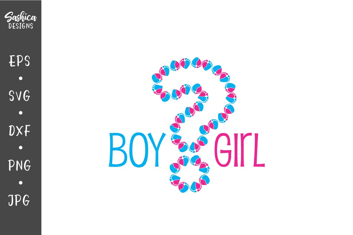 Download Free Gender Reveal Question Mark Graphic By Sashica Designs for Cricut Explore, Silhouette and other cutting machines.