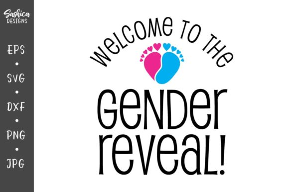 Download Free Gender Reveal With Baby Feet Graphic By Sashica Designs SVG Cut Files