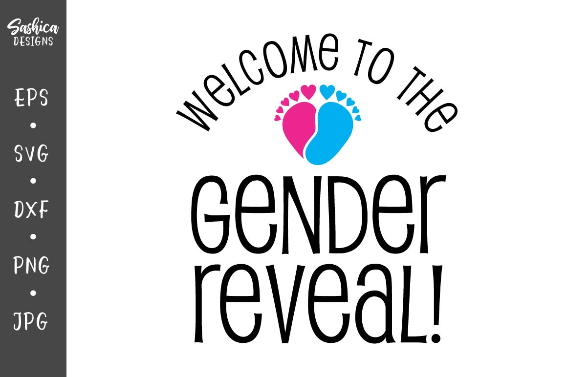 Download Free Gender Reveal With Baby Feet Graphic By Sashica Designs for Cricut Explore, Silhouette and other cutting machines.