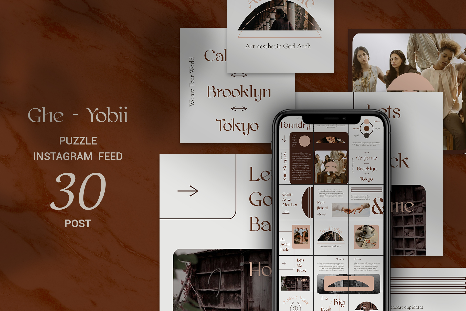 Download Free Ghe Yobii Puzzle Instagram Feed Graphic By Qohhaarqhaz for Cricut Explore, Silhouette and other cutting machines.