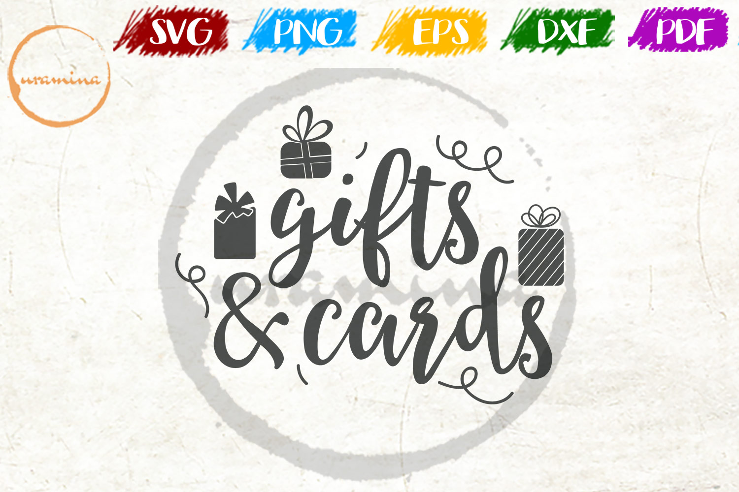 Download Free Gifts And Cards Graphic By Uramina Creative Fabrica for Cricut Explore, Silhouette and other cutting machines.