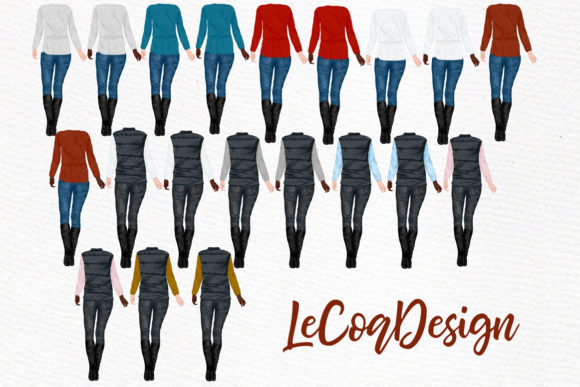 Couples and Horses Graphic Illustrations By LeCoqDesign - Image 3