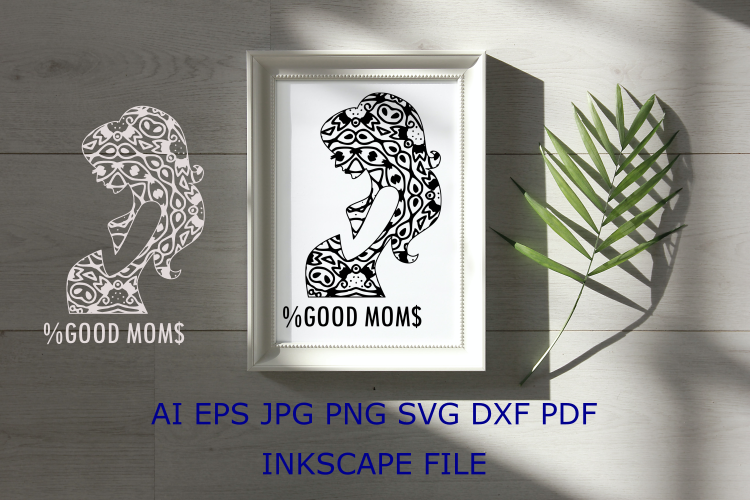 Download Free Good Mom Mandala Graphic By Masyonifikri Creative Fabrica for Cricut Explore, Silhouette and other cutting machines.