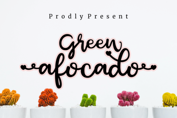 Print on Demand: Green Afocado Script & Handwritten Font By artype07