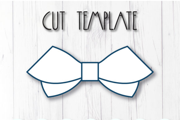 Download Free Hair Bow Template Grafico Por Articuties Creative Fabrica for Cricut Explore, Silhouette and other cutting machines.