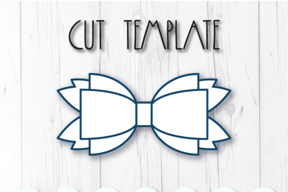 Hair Bow Template Graphic 3D SVG By ArtiCuties - Image 2