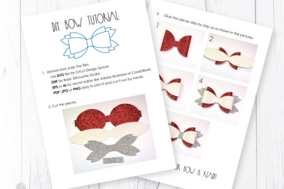 Hair Bow Template Graphic 3D SVG By ArtiCuties - Image 3