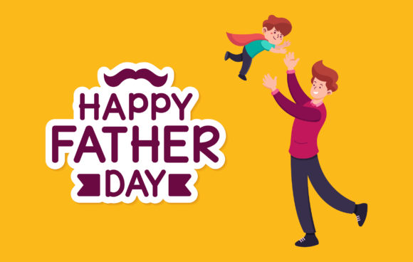 Download Free Happy Father Day Cute Illustration Graphic By Matfine Creative for Cricut Explore, Silhouette and other cutting machines.