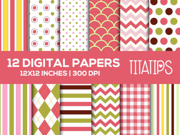Download Free Happy Mother S Day Digital Papers Set Grafico Por Titatips for Cricut Explore, Silhouette and other cutting machines.
