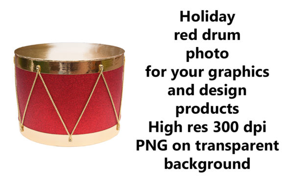 Print on Demand: Holiday Red Drum Graphic Holidays By A Design in Time
