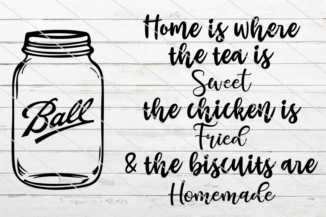 Download Free Home Is Where The Tea Is Sweet Graphic By Amy Anderson Designs for Cricut Explore, Silhouette and other cutting machines.
