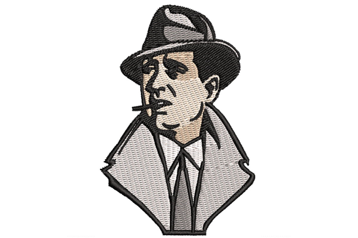 Download Free Humphrey Bogart Profile Creative Fabrica for Cricut Explore, Silhouette and other cutting machines.
